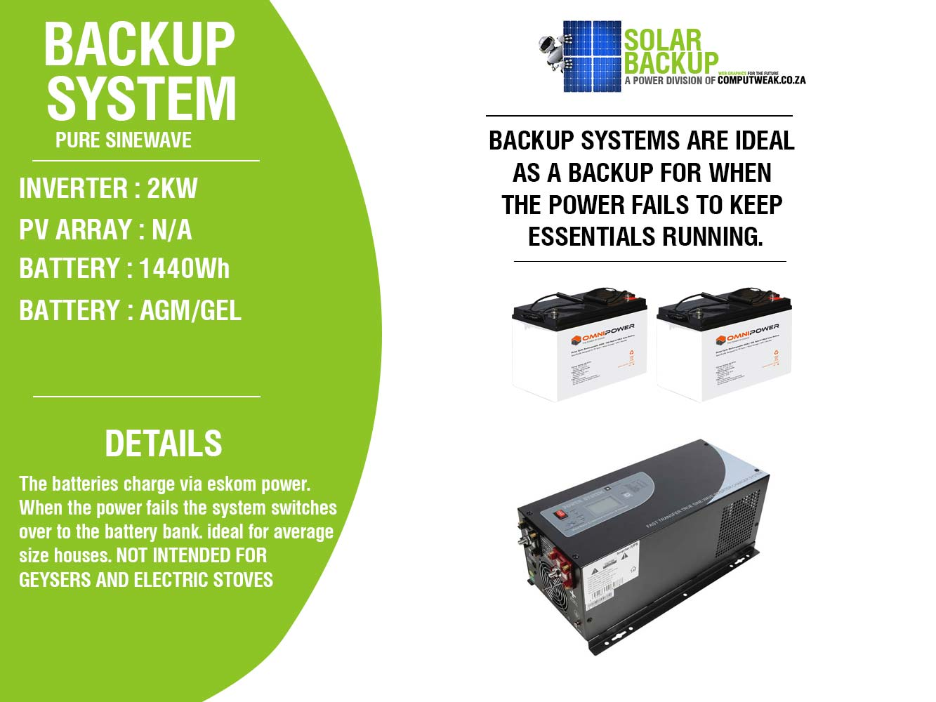 Solar Backup Your Solution Wiring Diagram Of Panels Ups Battery Load Fan 2000w System Automatic Transfer Switch Charger