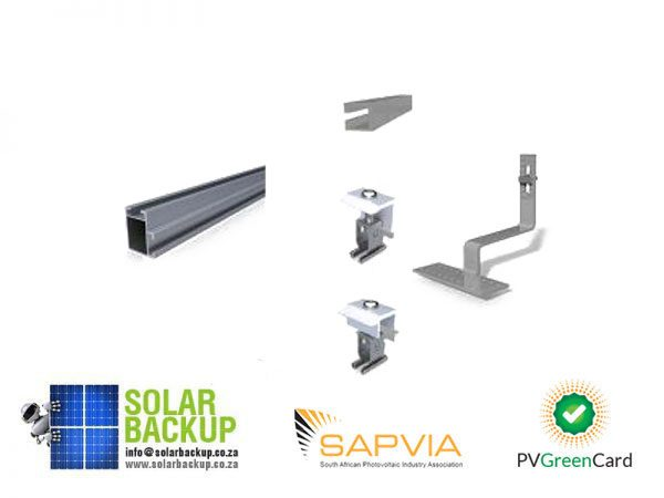 Solar Backup-Mounting Kit Tile (2 Panels)