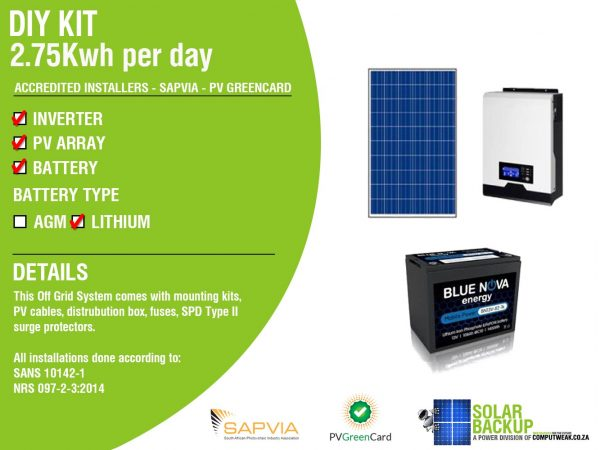 Solar Backup-DIY-Kit-2.75-kWh-Per-Day