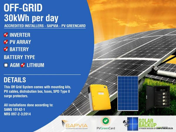 Solar Backup-Off-grid-30kWh per day