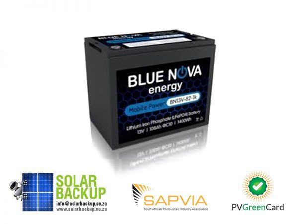 Solar Backup-Blue Nova -24V Battery Pack 108AH