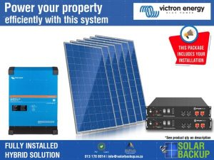 5kVA Victron 20 units per day with 7.2kWh Storage