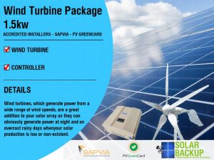 Wind Turbine package 1.5KW 48V 5 blade with a Controller