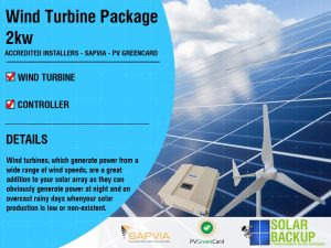 Wind Turbine package 2kw 48v 3 blade with a controller