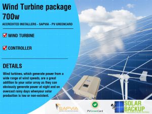 Wind Turbine package 700w-48v-5 blade with a controller